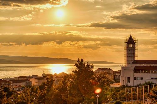 Δωρεάν στοκ φωτογραφιών με hdr, makarska, Αδριατική θάλασσα, δύση του ηλίου
