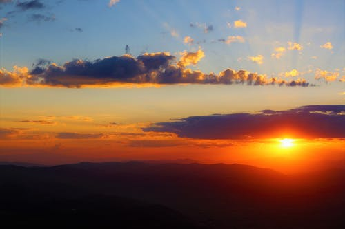 Ingyenes stockfotó este, felhők, naplemente, szép témában