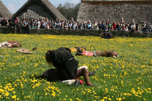 Person Lying on Field