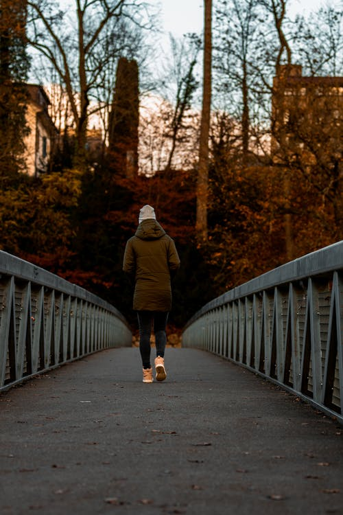 Free stock photo of bridge, bridge railing, person, symmetry