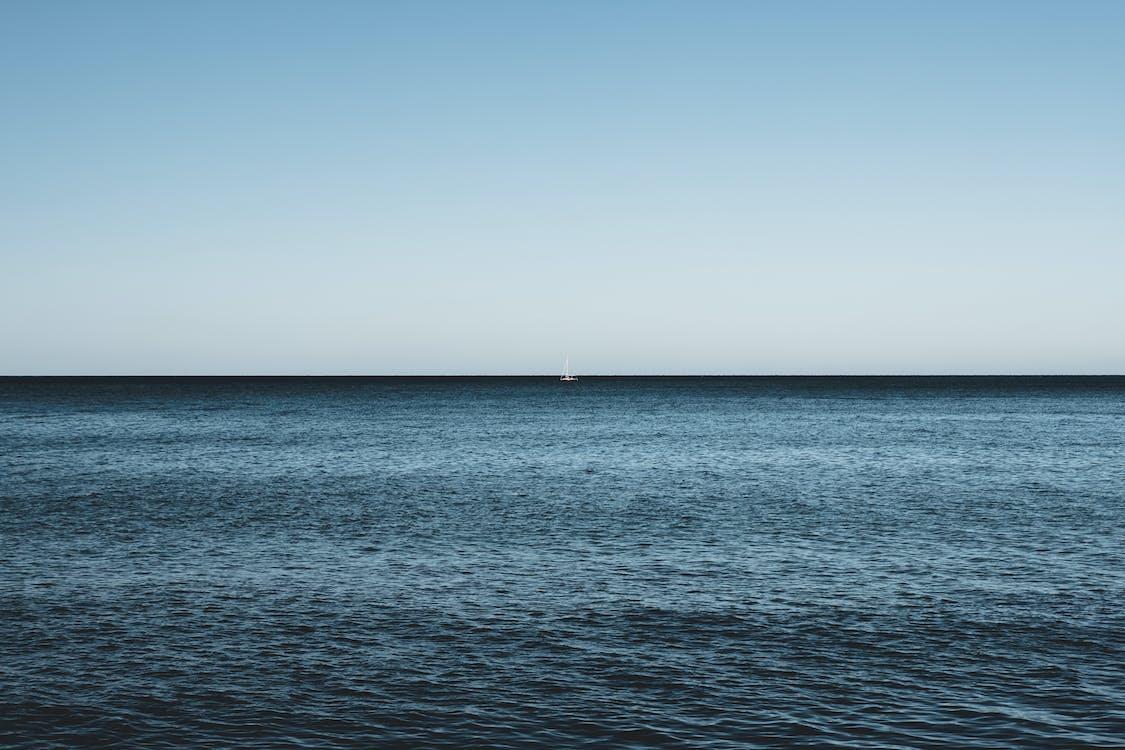 etäisyys, horisontti, meri