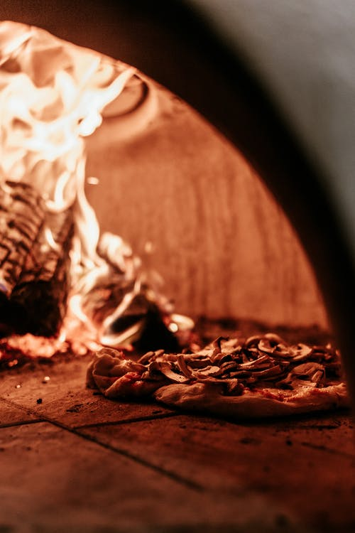 Photo of Pizza in Furnace
