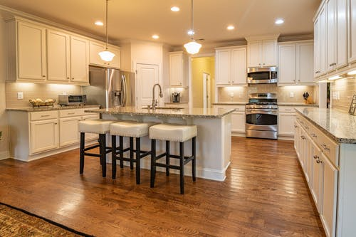 Free stock photo of kitchen, kitchen appliance, kitchen counter, kitchen island