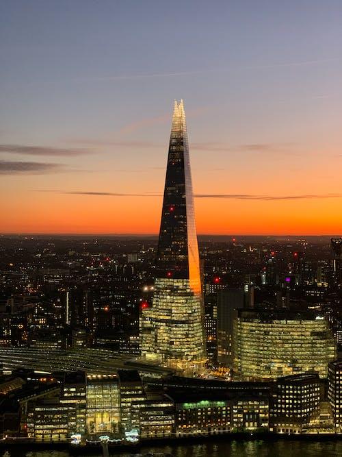 도시, 런던, 밤, 사금파리의 무료 스톡 사진