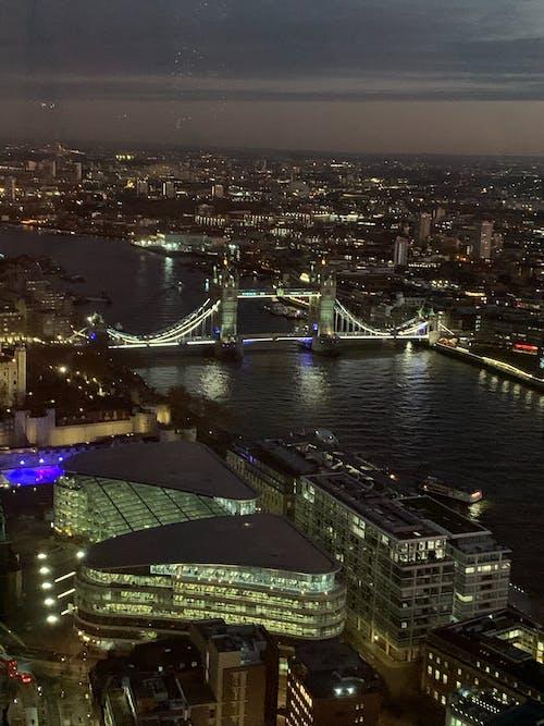 도시, 런던, 밤, 어두운의 무료 스톡 사진