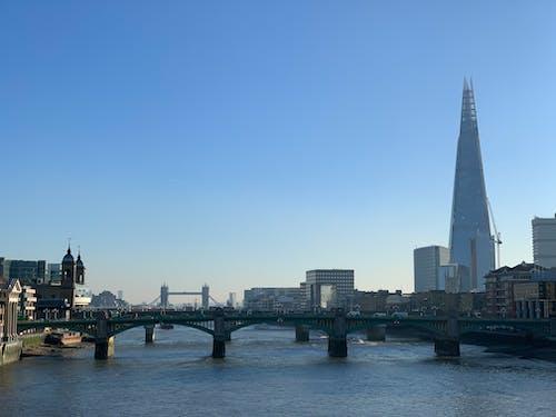 강, 더 샤드, 런던, 영국의 무료 스톡 사진