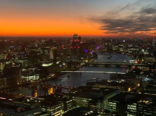 강, 도시, 런던, 밤의 무료 스톡 사진