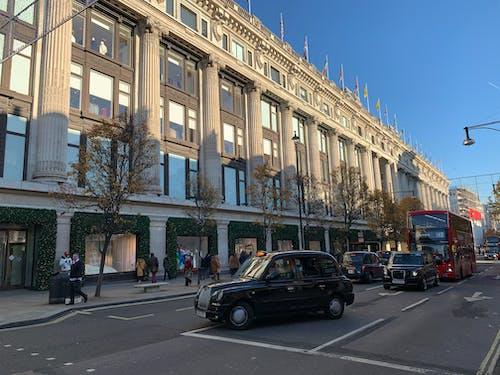 거리, 런던, 버스, 셀프 리지 스의 무료 스톡 사진