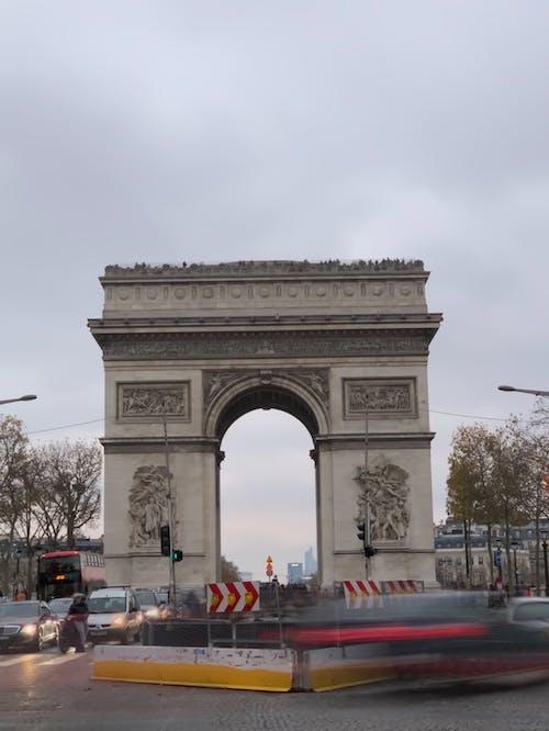 Foto profissional grátis de Arco do Triunfo, França, Paris
