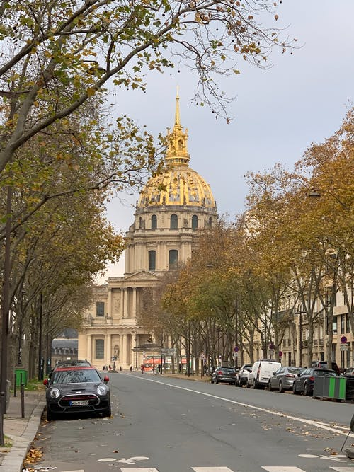 거리, 돔, 파리, 황금빛의의 무료 스톡 사진