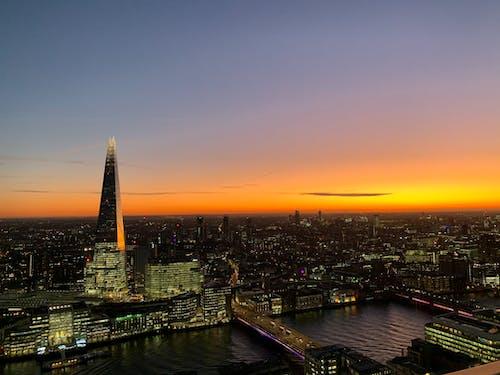 더 샤드, 런던, 밤, 영국의 무료 스톡 사진