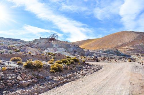 Free stock photo of mine, mountain, road