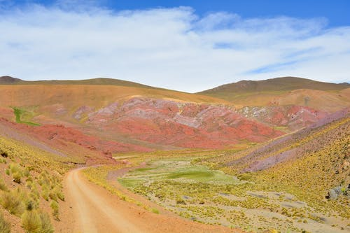 Free stock photo of colorful, colourful, landscape, mountain