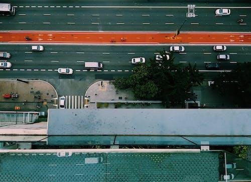 Kostnadsfri bild av bilar, drönarbilder, drönarfotografering, fågelperspektiv