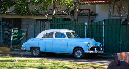 Free stock photo of american car, blue car, buick