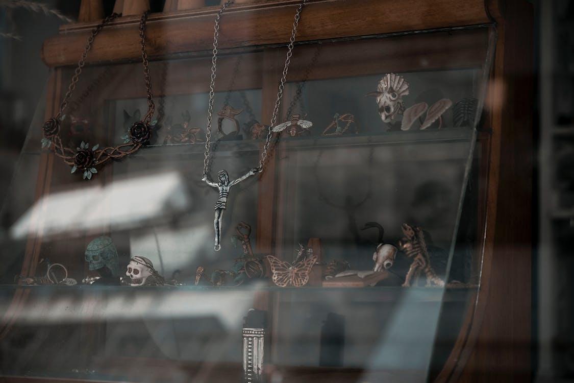 Silver-colored Crucifix Pendant Necklace