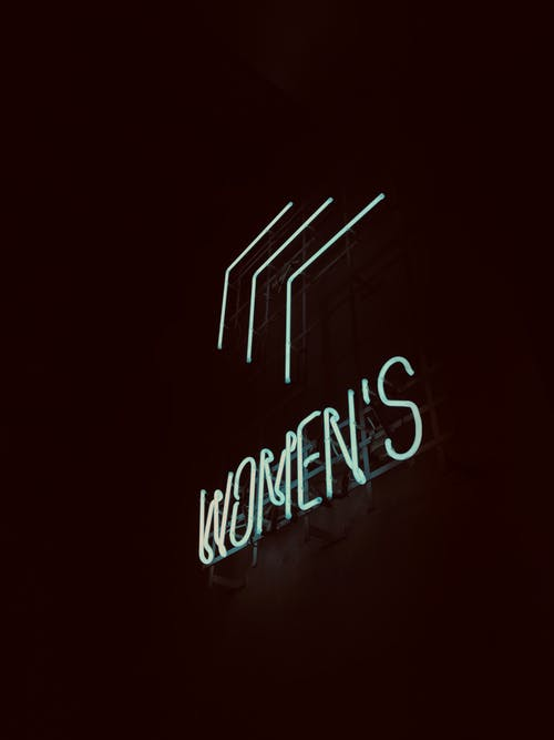 Neon Lighted Women Signage