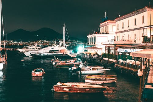 Free stock photo of active, boats, buildings, castel nuovo