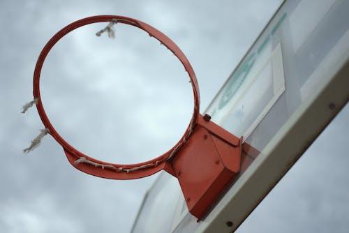 Free stock photo of basketball, basketball ring, cloudy sky, orange