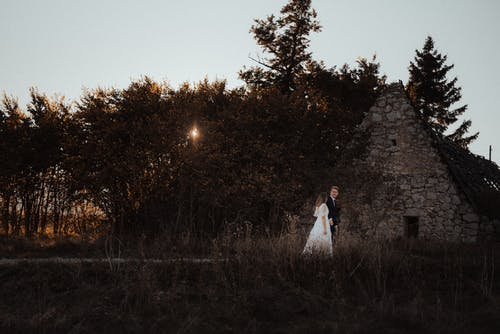 Free stock photo of autumn, bride, husband