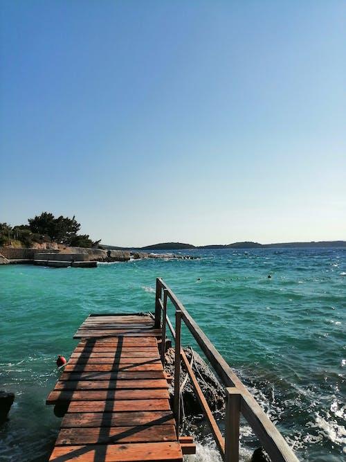 Free stock photo of adriatic sea, beach waves, bridge