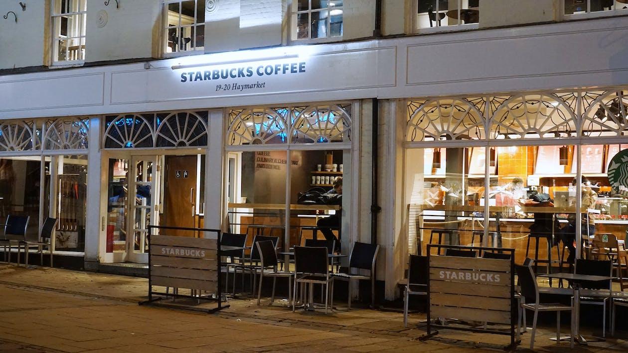 White Starbucks Coffee Building