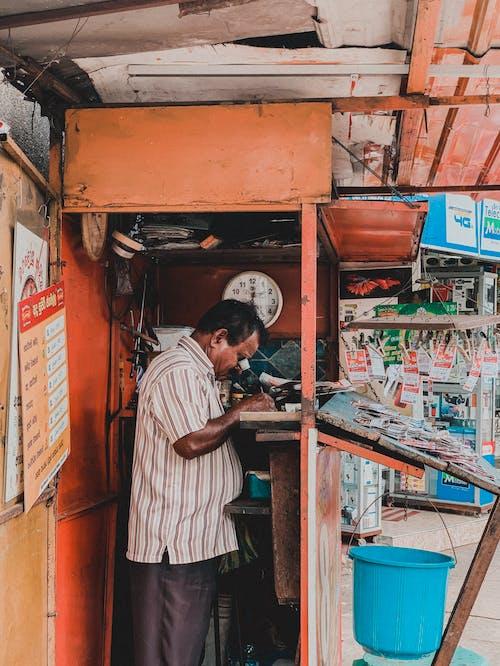 Free stock photo of Booth, man, market, sri lanka