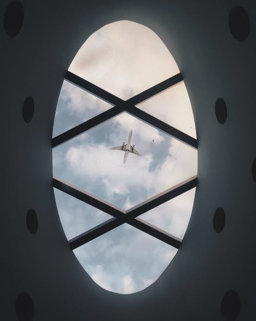 Flying aircraft through creative ceiling window