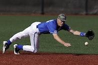 man, field, playing