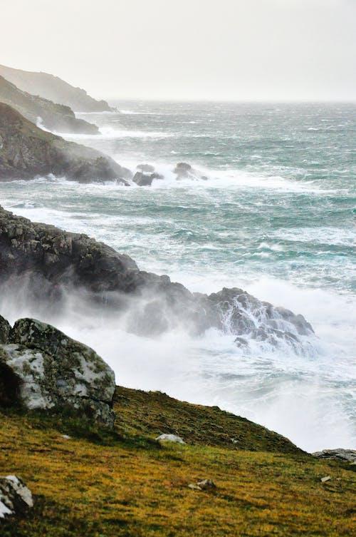 Imagine de stoc gratuită din apă, coastă, coastă de stâncă, crashing valuri