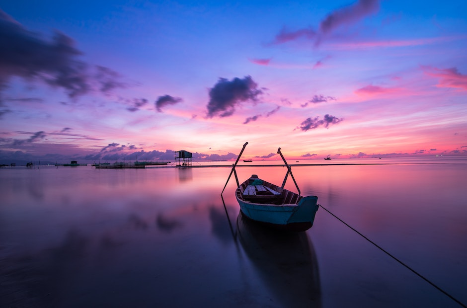 beach, boat, colorful