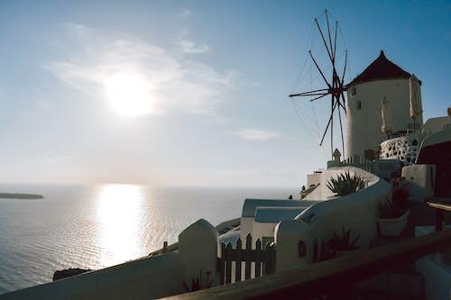 Бесплатное стоковое фото с греция, закат, ия, санторини