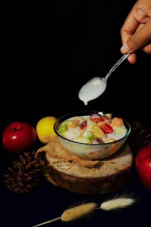 คลังภาพถ่ายฟรี ของ การถ่ายภาพอาหาร, จัดแต่งทรงผมอาหาร, ชามผลไม้, น้ำสลัด