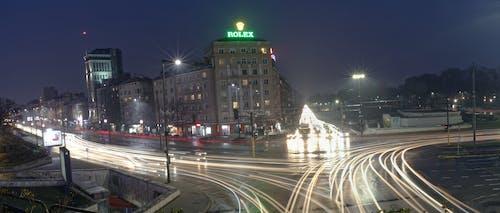 Бесплатное стоковое фото с длинная экспозиция, полосы света, час пик