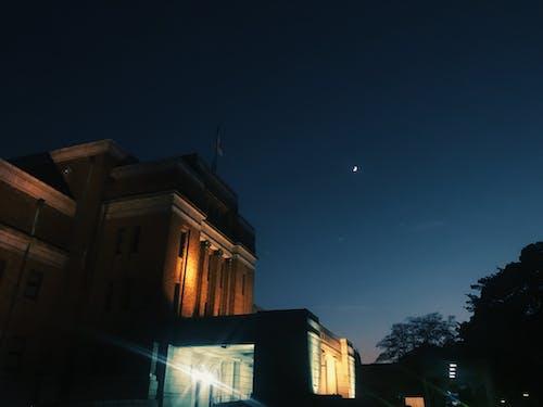#夜#月の無料の写真素材