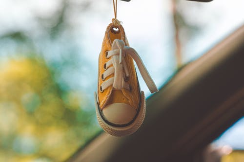 Yellow and White Low-top Sneaker Keychain