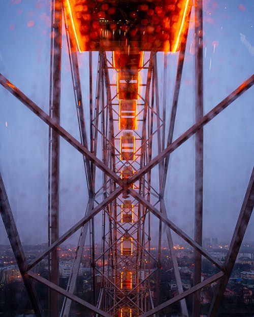 колесо обозрения, ярославь, 관람차, 도시의 밤의 무료 스톡 사진