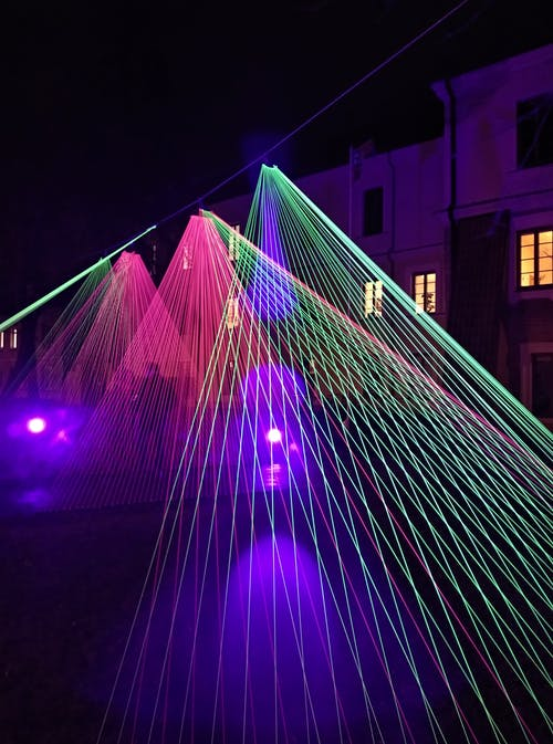 Long-exposure Photography of Red and Green Led Lights