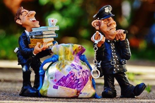 Free stock photo of police, money, crime, finance