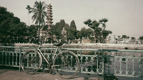 Základová fotografie zdarma na téma Hanoj, jízdní kolo, klasický, pagoda