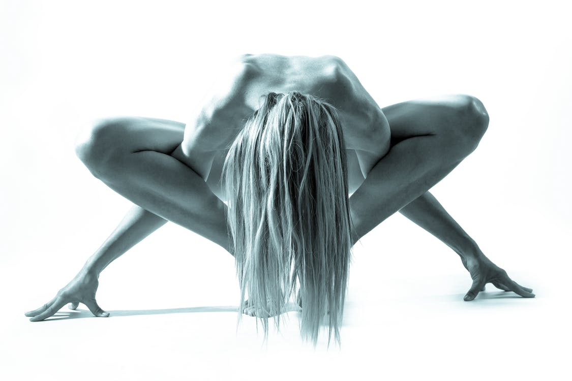 Grayscale Photography of Naked Woman