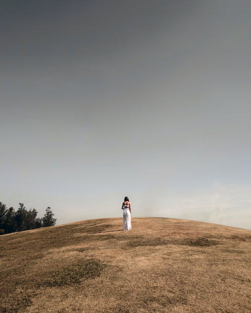 Woman on Hill