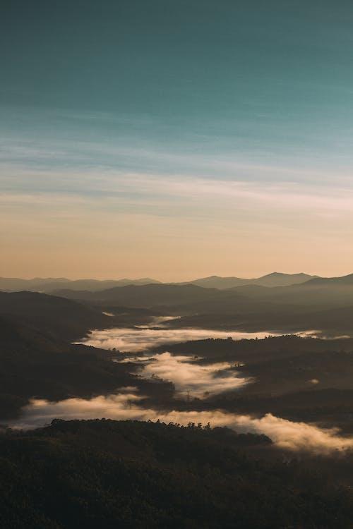 bergen, blikveld, buiten