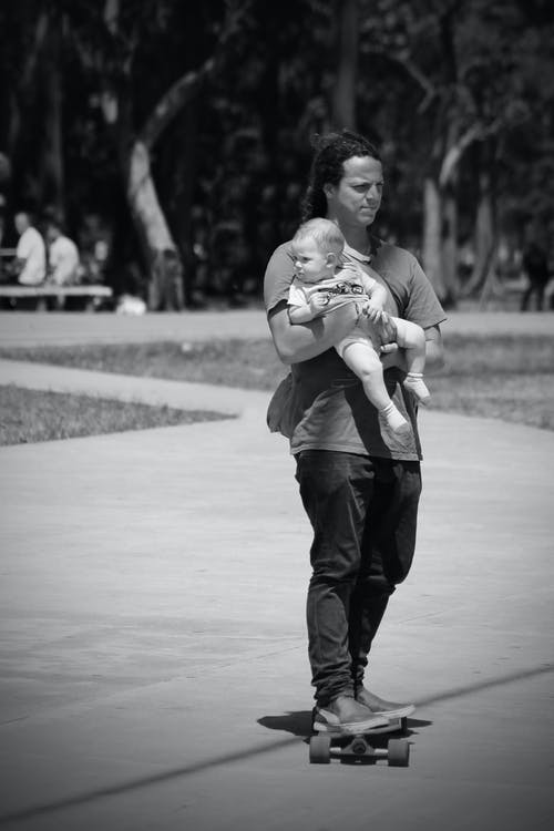 Free stock photo of baby, father, love, skate