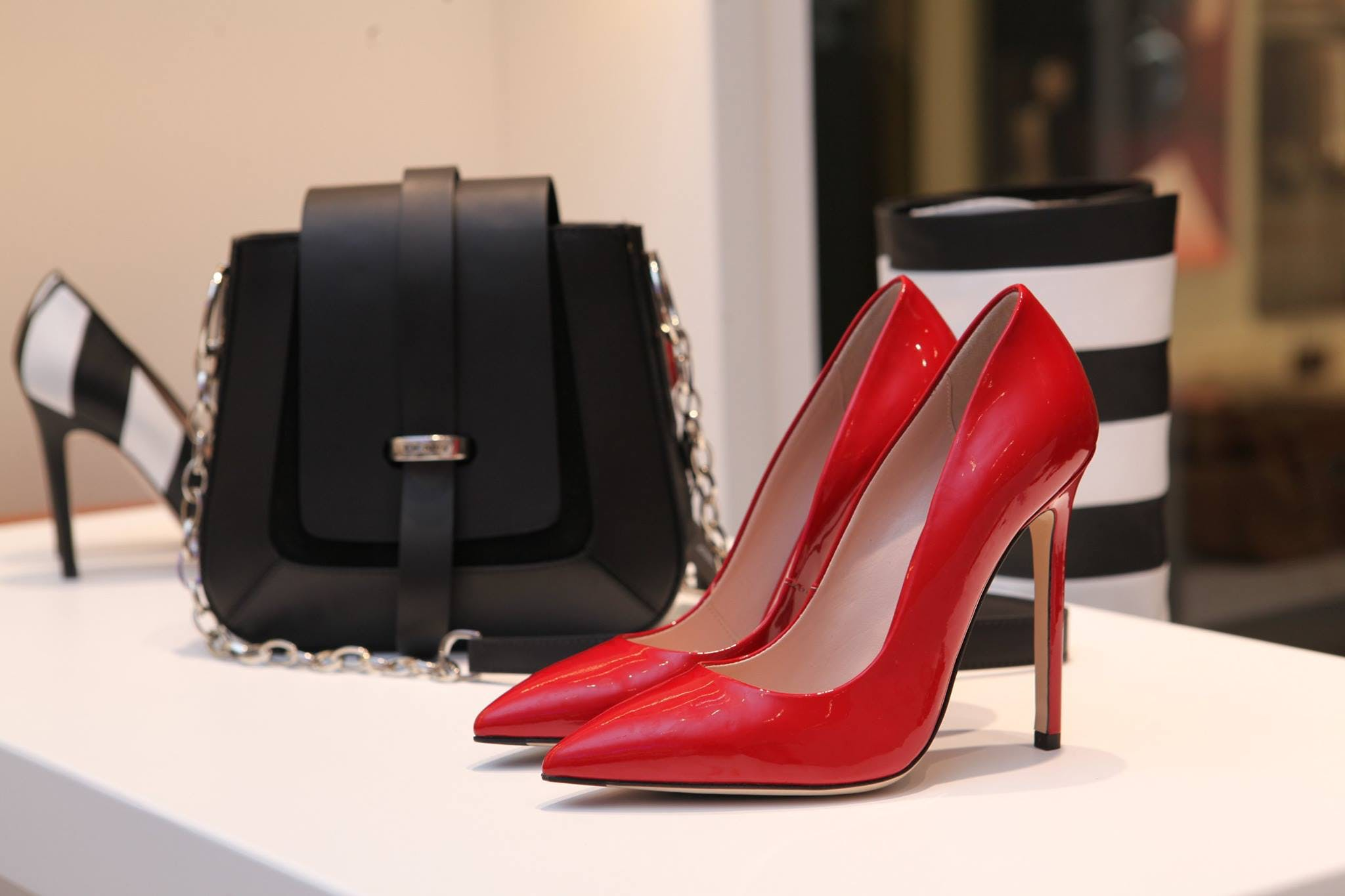 Close-up of Shoes And Bag