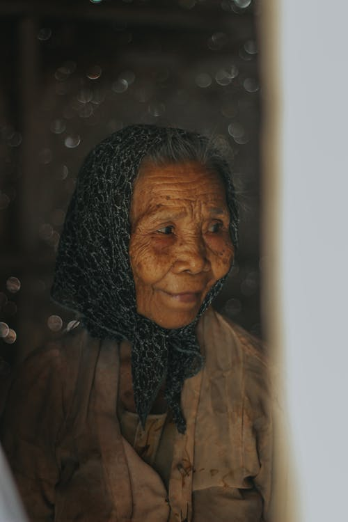 Photo Of Old Woman Wearing Headscarf
