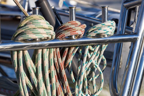 Free stock photo of boat, boat rope, focus, knot