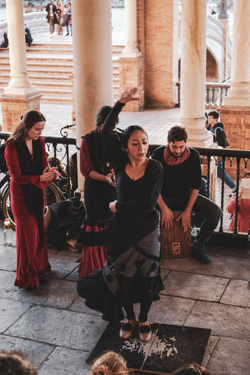 Free stock photo of andalusia, black dress, culture, dancing