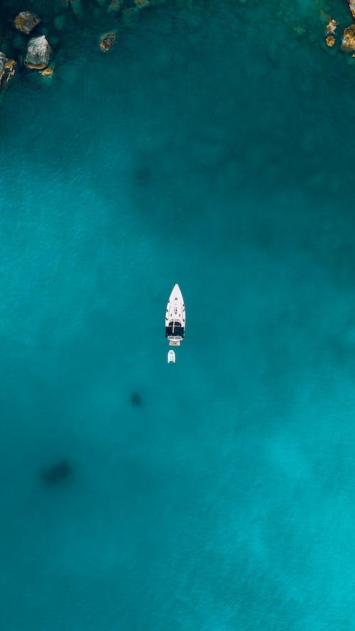 Foto profissional grátis de aéreo, aerofotografia, barco, de cima