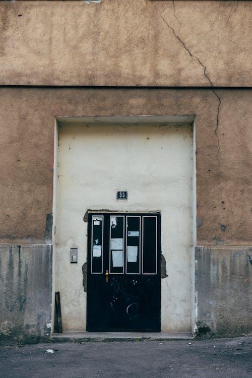 Free stock photo of broken, building, dirt, door